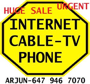 $98 BUNDLE _UNLIMITED INTERNET + 140 CHANNELS TV + PHONE DEAL