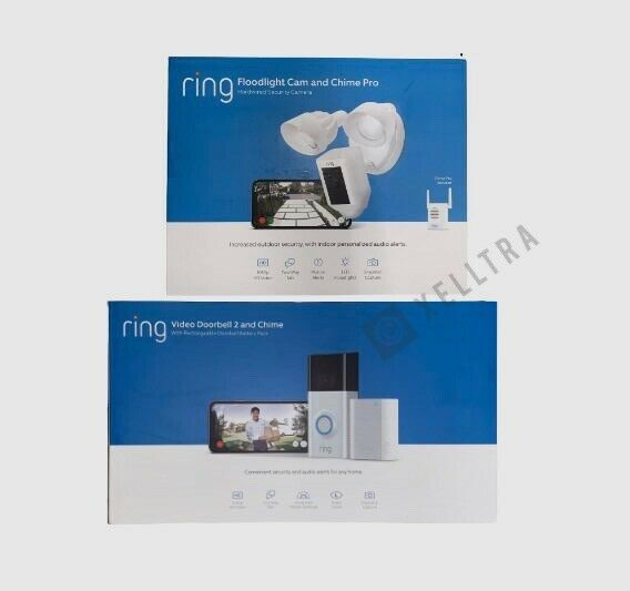 Wireless Video Doorbell 2 with Chime Pro and Floodlight Came