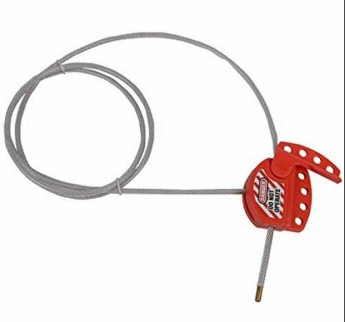"""Adjustable Cable Lockout With Vinyl Coated, 1/4"""" Diameter, 4"""