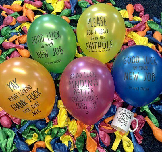 Leaving Balloons Set Of 5 Colleague Leaving Funny Gift Mug New Job Gift Mug Work