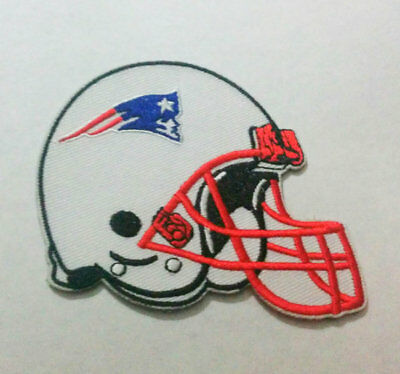 """New England Patriots Iron On Patch 3"""" x 2 3/4"""" Free Shipping by Envelope Mail"""