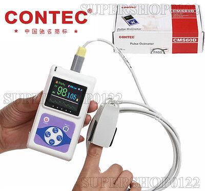 Usa Pulse Oximeter Hand-held Adult Finger Probe Usb Pc Software Cms60dspo2pr