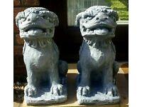 Chinese Foo dog statues X2