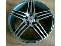 "SET OF 4 X MERCEDES 18"" AMG TRIPLE SPOKE STYLE ALLOY WHEELS"