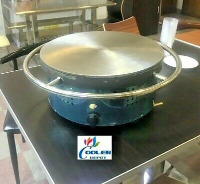 New 18 Crepe Maker Pancake Machine Big Hotplate Non Stick Commercial Gas Lp