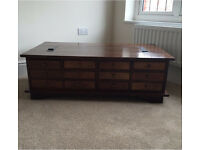 Laura Ashley Garrat Chesnut 12 Draw Coffee Table