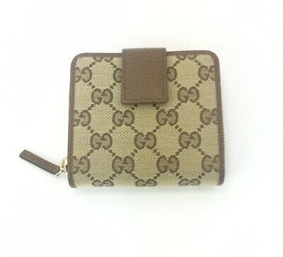 AUTHENTIC Gucci #346056 GG Canvas Zip Around French Wallet, NWT
