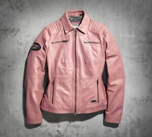 NEW ** BEAUTIFUL PINK LABEL HARLEY JACKET SOFT LEATHER **