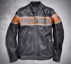 Mint Leather Harley Davidson Jacket