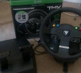 Thrustmaster TMX wheel and pedal combo