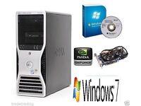 GAMING PC DELL PRECISION T3400 COMPUTER DESKTOP TOWER PC INTEL CORE 2 QUAD
