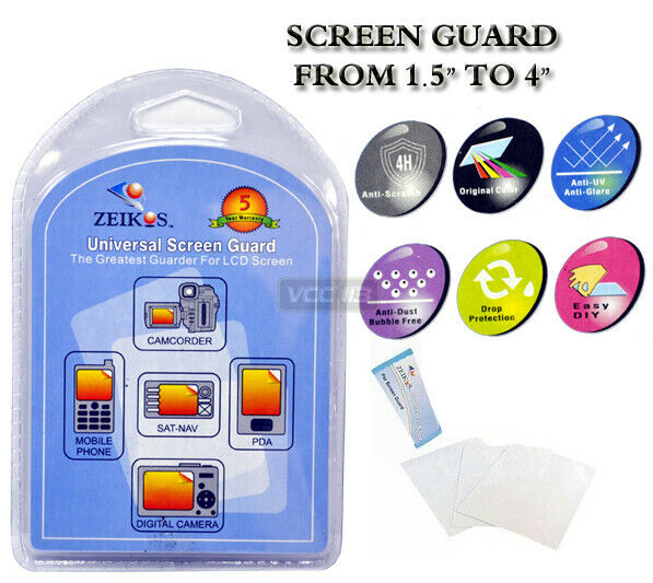"""Screen Protector For CELL PHONES, PDA & GPS 4"""" LCD Max"""