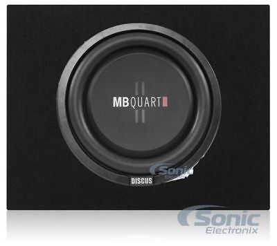 "MB Quart 400W 12"" Shallow Subwoofer + Q Power Slim Sub Car Box Enclosure Package"