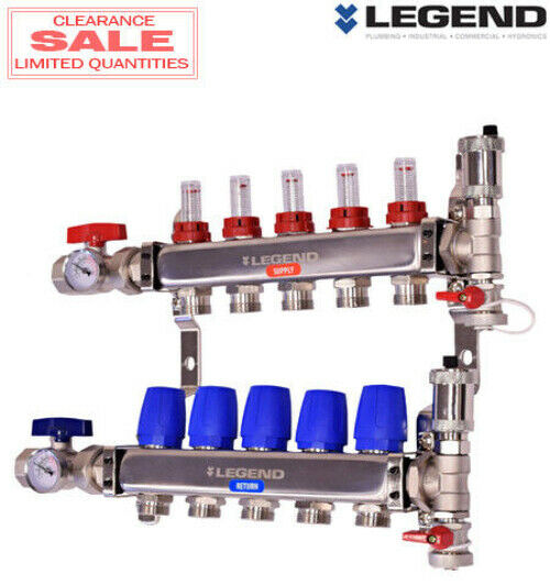 Legend 8330P-10-10 Stainless Steel 10 Port Manifold Pro