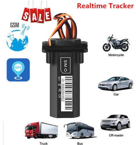 Realtime Address 4-Frequenc GPS GPRS GSM Tracker For Car/Vehicle/Motorcycle Hot