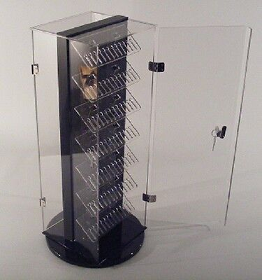 Two-side Locking Body Jewelry Display 7x7.5x20h Holds Up To 240pcs Made In Usa