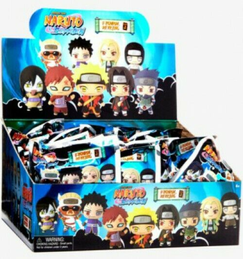 3D Figural Keyring Naruto Shippuden Series 2 Mystery Minis Blind Box [24 Packs]