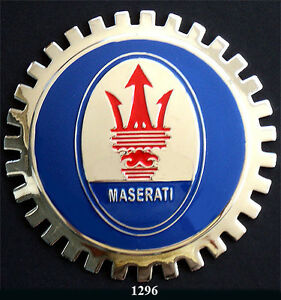 car grille emblem badges maserati. Black Bedroom Furniture Sets. Home Design Ideas