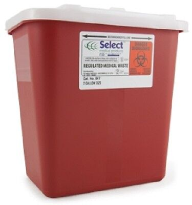 Lot Of 2 2 Gallon Multi Needle Disposal Container Lid Doctor Tattoo Sharp