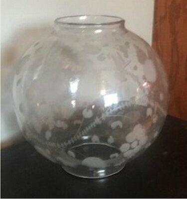 rge, Heavy Acid-Etched Glass, Globe Shade for Oil/Kerosene Lamp - gorgeous