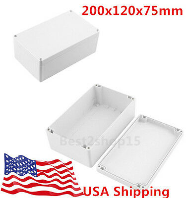 Waterproof Electronic Junction Project Box Enclosure Case 200x120x75mm BP