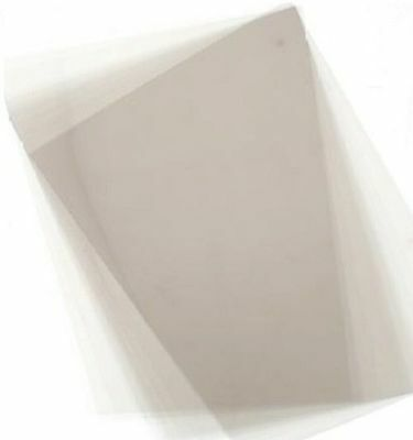 5 X Dolls House Clear Window Glazing Film Plastic Sheets 210mm X 145mm