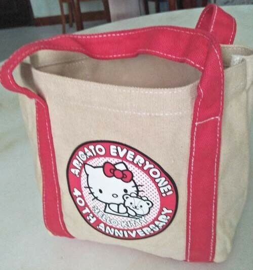 Hello Kitty canvas sling bag