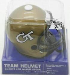 NEW Georgia Tech Yellow Jackets Football Helmet Jersey Alarm Clock NFL Desk Mini