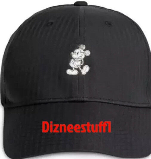 Disney Parks Nike Golf Mickey Mouse Dri-Fit Adjustable Baseball Hat Cap Black