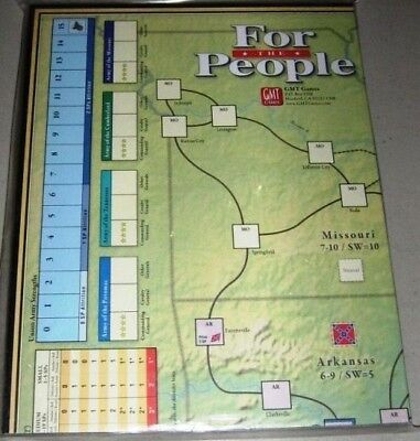 NEW, GMT For the People II, Hard Mounted Map Board, 2015 Ed (3rd Ed)