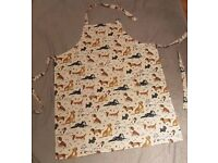 Adult Apron in Beautiful Dog Fabric- BRAND NEW