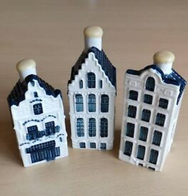 KLM BOLS Houses NEVER OPENED with Liquid Inside Perfect Condition - 3 Houses Available (20, 52, 67)