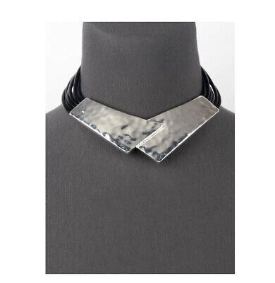 MARNI H&M TAILORED W/LEATHER  NECKLACE