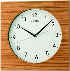 *BRAND NEW* Seiko Light Wooden Color With Zebra Wood Wall Clock QXA766BLH