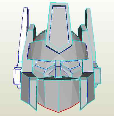 DIY Optimus Prime pepakura template kit free postage cosplay