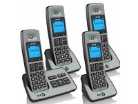 As new full working order BT home answer phone set 4 home phones