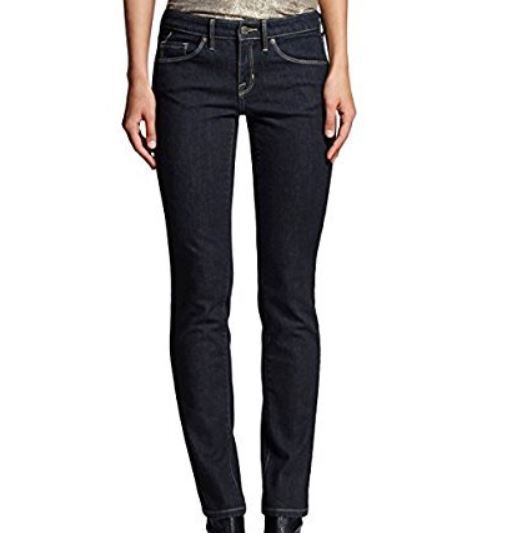 MOSSIMO Women's Mid Rise Straight Jeans Super Stretch Sz 10