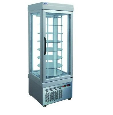 New Tekna 4-glass Door Revolving Display Cooler Showcase Free Shipping