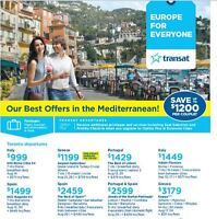 Offers in the Mediterranean!  $999 + $571 taxes