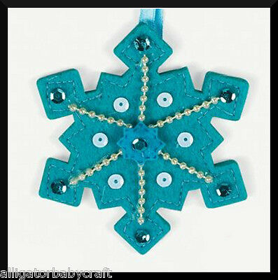 Felt Stitched Snowflake Christmas Ornament Craft Kit Kids ABCraft Winter Holiday ()