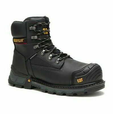 Cat Caterpillar Mens P90992 Excavator Xl 6 Wp Ct Black Work Boots Shoes