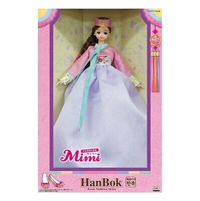 MIMIWORLD MiMi Blue Hanbok Korean Traditonal Clothing Toy Barbie Doll SINGGIRL