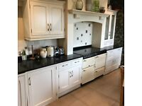 Quality kitchen units with granite top and appliances