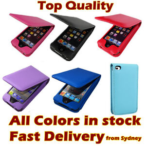 Hot Colour Flip Leather Case Cover Pouch for Apple iTouch iPod Touch 4 4th Gen