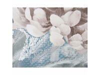 New Teal Bloom Printed Canvas