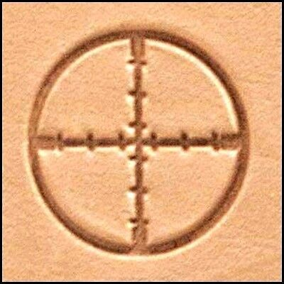 3D RIFLE GUN SCOPE STAMP 8581-00 Tandy Leather Craft Stamping Tool Stamps Tools