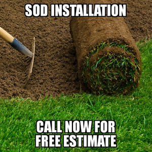 SOD INSTALLATION • FROM $1/SQ FT