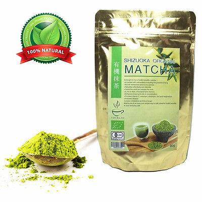 Gold Health Natural Japanese Premium Organic Matcha Green Tea Powder 80g