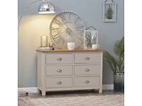 Available NOW New built grey and oak 6 drawer chest Sale £429 W115XD40XH78cm