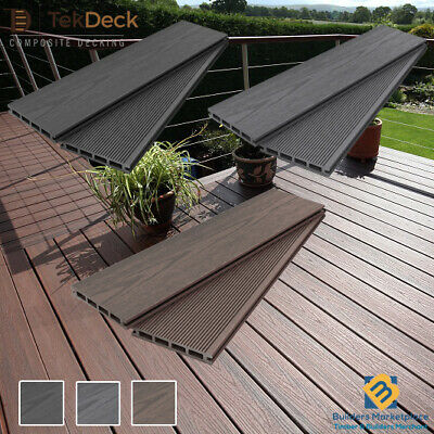 Composite Decking Boards Grey Black Brown Timber Plastic Decking | Select Colour